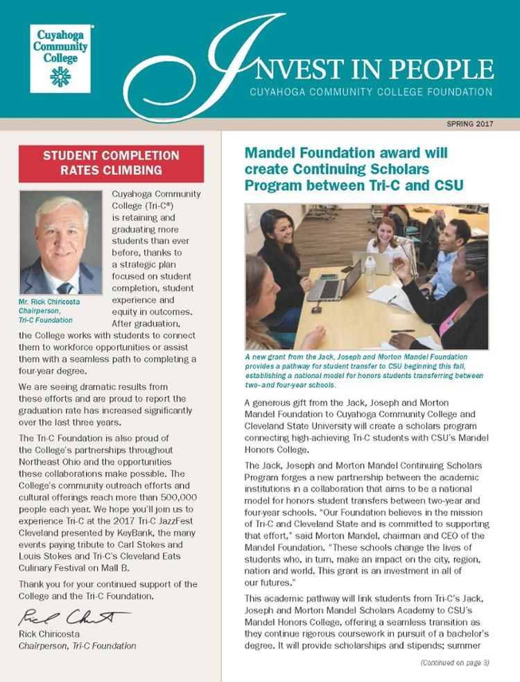 tri c foundation newsletter cleveland