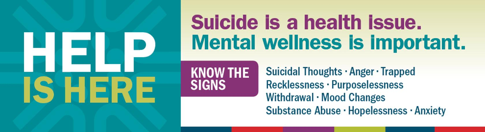Help is Here! Suicide Prevention & Mental Wellness