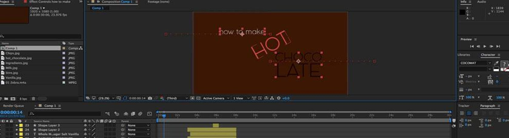 motion graphics certificate program at tri-c: cleveland ohio