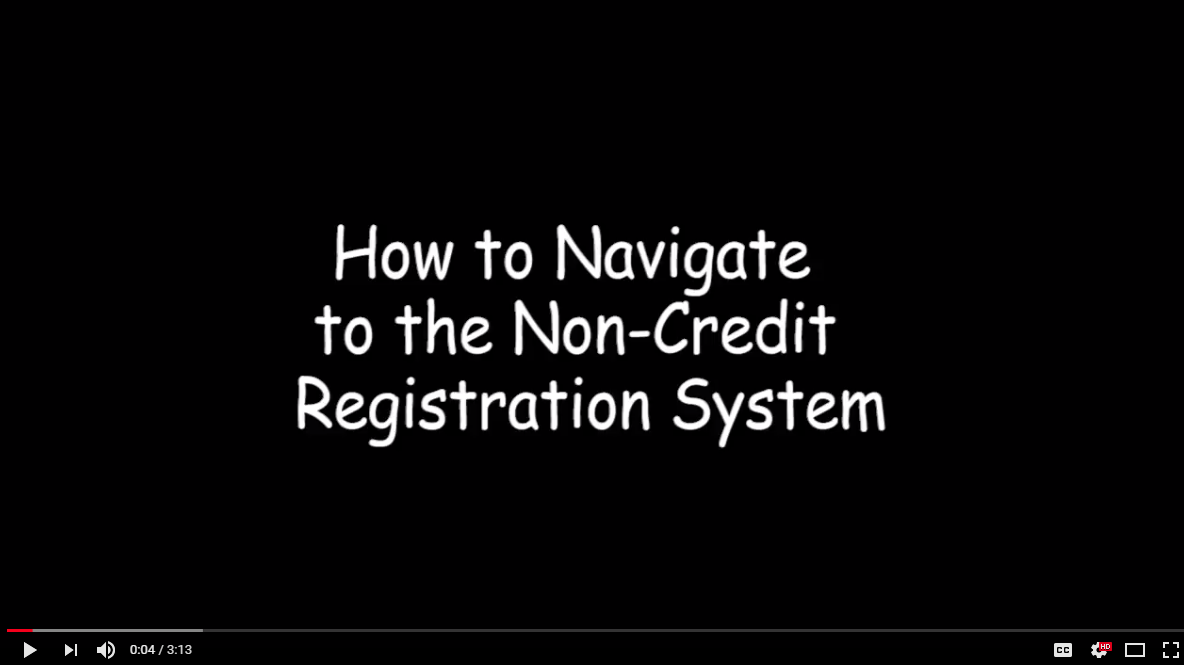 How to Navigate Non-credit Registration